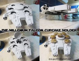 The Millenium Falcon Cupcake Holder by eva-guy01