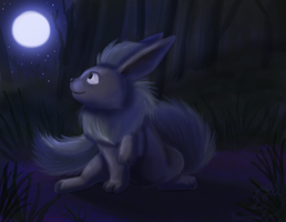 Flareon (Slightly) in the Dark by racingwolf