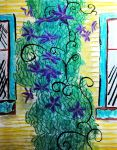 Climbing Purple Vines by bloomingvinedesign