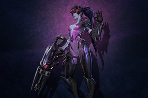 Overwatch: Widowmaker Wallpaper by Lar-Zen