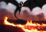 Drogon - Game of Thrones by nikoteen18