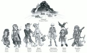 Dungeons and Dragons: SP-Forum Characters by Tabascofanatikerin