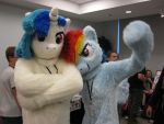 DJ and Dash at TrotCon by Rennon-the-Shaved