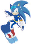 Sonic The Hedgehog by Waito-chan
