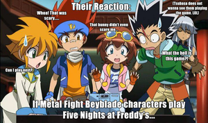 If Metal Fight Beyblade characters play FNAF... by Fennix-Cat
