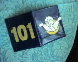 Vault 101 Duct Tape Wallet by UnderCoverCottonswab