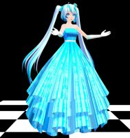 Ice Queen Miku MMD download by Reon046