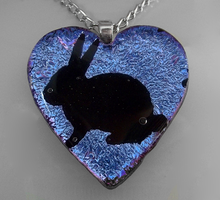 Lavender N Pink Bunny Pendant by poisons-sanity