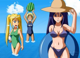 Love Hina: A Summer Place by JayQC80