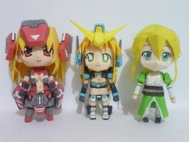 Papercraft Chibi Lyfa - comparisons C by bryanz09