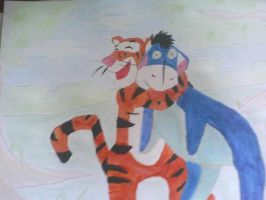 Tigger and Eeyore by Insanescriptist