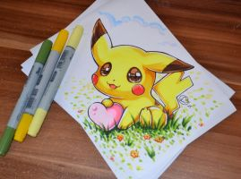 Chibi Pikachu by Lighane