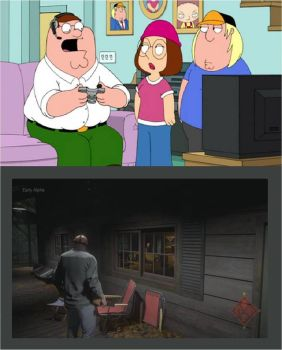 Peter Griffin play Friday the 13th: The Game by xxphilipshow547xx
