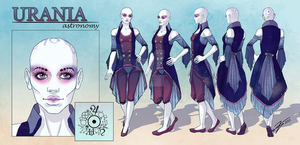 Urania - Character Reference Sheet by tbdoll