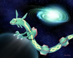 Space Rayquaza by Rose-Beuty