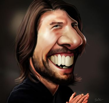 Tom Cruise caricature by MightyGodOfThunder