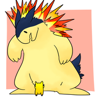 Typhlosion and Joltik by Lexi247