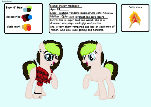 Hailey (jacksepticeye and markiplier themed oc) by Pony-storm