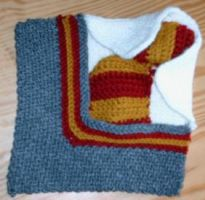 Gryffindor 8x8 afghan square by eccentricone