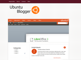 Ubuntu Blogger Template by Cloudx18
