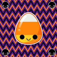 kawaii candy corn by to-much-a-thing