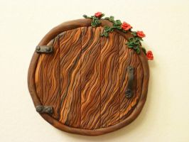 Rosewood Round Fairy Door by FlyingFrogCreations
