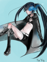 Black rock shooter by colorlinebrush
