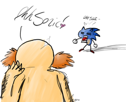 Sonic walks in to... by BlurBird