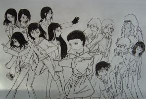 DCW In Real Life -uncolored ver by Tsukiko75014