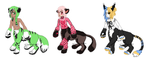 Kitty-Taur Babies OTA - CLOSED OWNERS CHOSEN by hoovesandswords