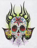 Sugar Skull tribal by SE3K1