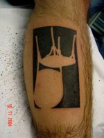 Upside down chair tattoo by micaeltattoo