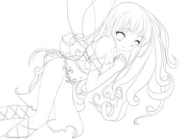 Delicate fairy - Lineart by yuna-chicky-yummy