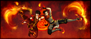 Firebenders by Lily-Fu