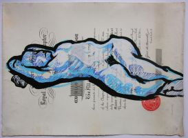 Blue nude on Document by object000