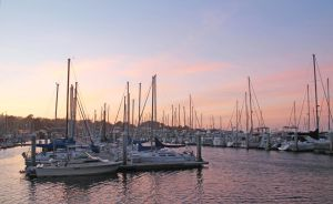 Monterey Harbor Sunset by Fritters