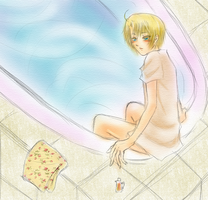 (Hetalia) Bucolic and Noblesse : Bath (America) by Hyperkaoru13