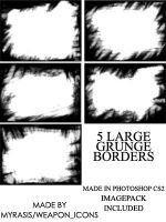 Large Grunge Borders by draconis393