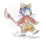 Quick Piece: Eiko by AbyssinChaos