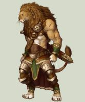 Lion Warrior by koutanagamori
