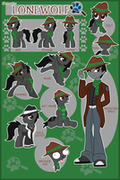 Detective Lonewolf Reference Sheet by Shadowpredator100