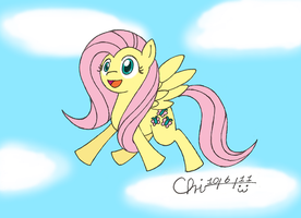 Cute Flying Fluttershy by CrispyChris