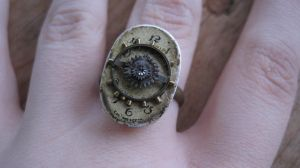 Steampunk Cream Ring by PunkTrunk