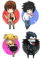 Death Note Chibis -set 1- by Robbuz