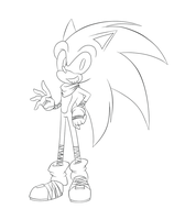 Sonic Boom :LineArt: by SILVERtheHEDGEHOGyes