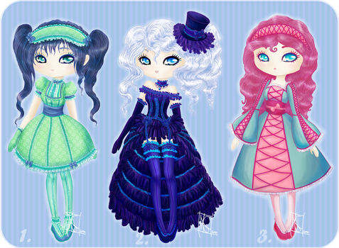Adoptable Chibi dolls :OPEN: SALE! by MaGeXP