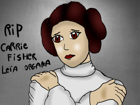RIP Carrie Fisher ( Princess Leia ) by valentinfrench