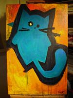 funky bluegreen cat by MRHaZaRD