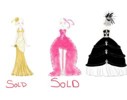 Prom Dress Collection Adopotable's -CLOSED- by Deamonfoxgurl