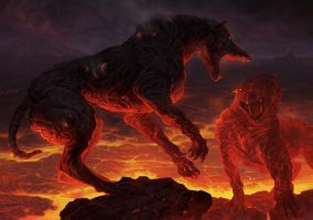 Hellhounds by 3Daemon